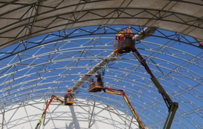 Fabric structure installations are carried out by a highly qualified team of riggers.