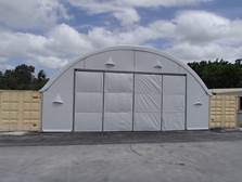 Taurus Fabric Build structure 12m 40' wide with bi-fold doors