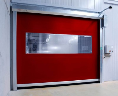 High Speed doors for fabric structures are cost effective doors for high use situations.