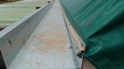 Walk-along gutters for fabric structures ensure easy access for maintenance