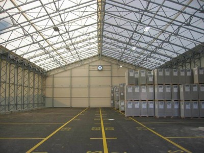 Large fabric structures are ideal for increasing your warehousing needs quickly while maintaining future flexibility.