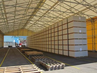 Taurus Fabric Build large structures are ideal for warehouse, bulk storage and commercial hangars.