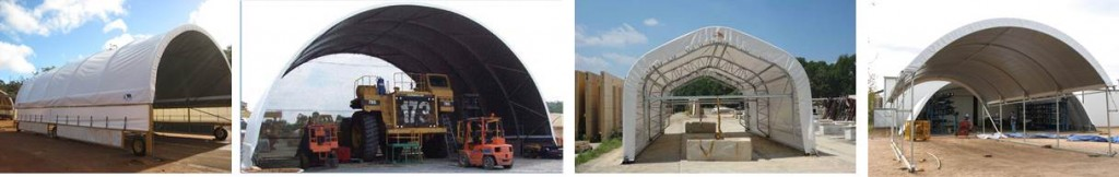 Mobile fabric structures allow you to take the light shelter to the work and increase productivity.