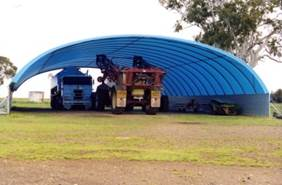 Fabric clad farm sheds are economical and give you flexibility