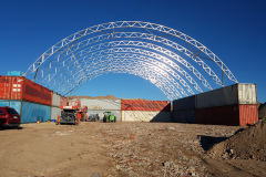 Recycling depot container mounted fabric structures at Breen Cronulla Sydney