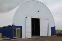 Container mounted fabric structure Truck maintenance Noske Logistics