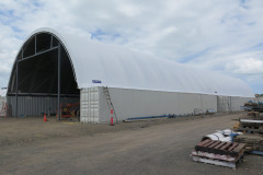 18m x 52m manufacturing and storage container mounted fabric structure Brisbane