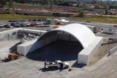 18m x 18m Fly ash container mounted fabric structure