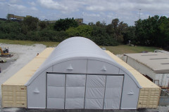 16m x 24m container mounted fabric structure at cement works