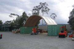 6m x 6m Container mounted shelter systems in Sydney