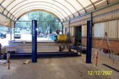 Existing shed to post dome building