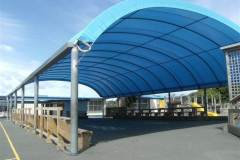 Post and rail school dome building