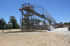 Frame of building at Talison lithium mine WA
