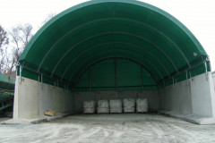 T blocks used for fabric structure bulk storage