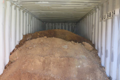 Ballasting containers for heavy material bulk storage