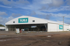 Tensioning the fabric cover ideal for a factory building