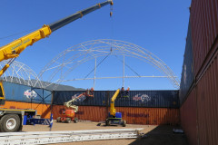 Installing fabric structures at Mount Isa