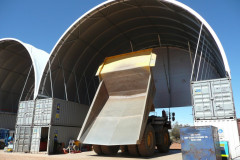 Alliance fabric structures at Randalls Mine