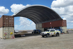 Fabric buildings for mining at Newlands Coal mine