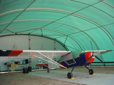 Aircraft hangars made from fabric structures