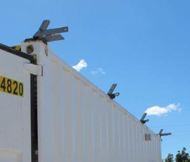 Rails or individual spigots can be welded to the containers.