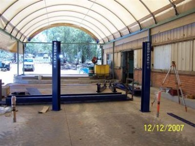 The benefits of fabric buildings is that they are well lit and pleasant to work in.