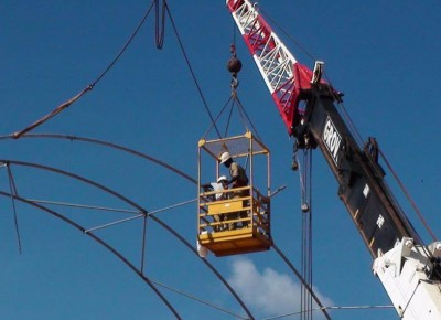 Overseas Installations - man cage in operation at Sabodala in French speaking Senegal